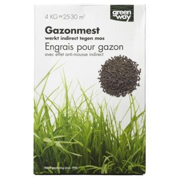Engrais gazon + antimousse Greenway 4 kg