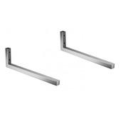 Porte-serviettes Hempstead Atlantic métal simple 2 pièces
