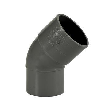 Coude 45° Martens avec 1 x sortie mâle 40 mm gris