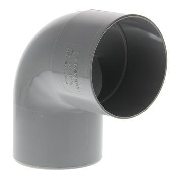 Coude 80 mm 90° 1xlm eep gris foncé