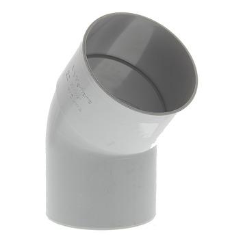 Coude 80 mm 45° 1xlm eep gris