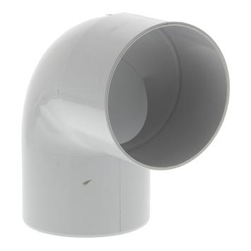 Coude 80 mm 90° 1xlm eep gris clair