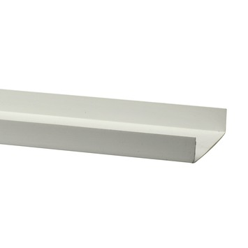 Profilé de finition PVC 8x260 cm blanc