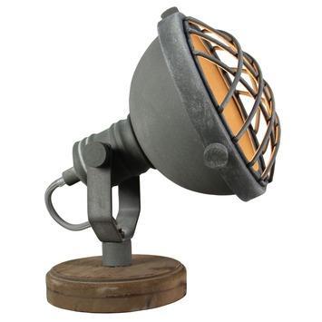 Lampe de table Mila Brillant gris béton