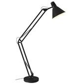Brilliant vloerlamp Winston zwart