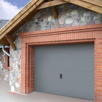 Porte de garage Wayne Dalton 240x212,5 cm gris (sans encadrement 318563)