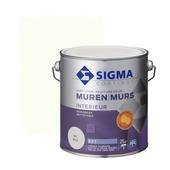 Sigma muurverf reinigbaar mat RAL 9010 2,5 liter