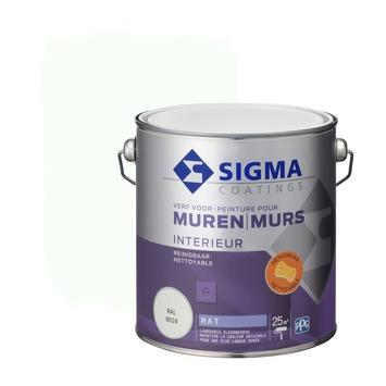 Sigma muurverf reinigbaar mat 2,5 L RAL 9016