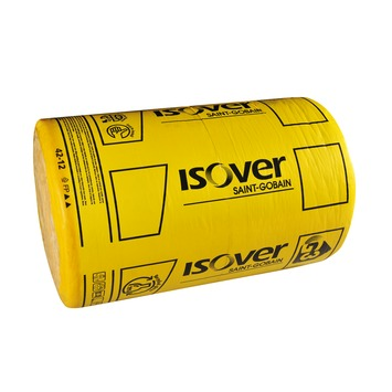 Rouleau de laine de verre à languettes Isover Rollisol 12x35x1000 cm 7 m² Rd=3 2 pièces