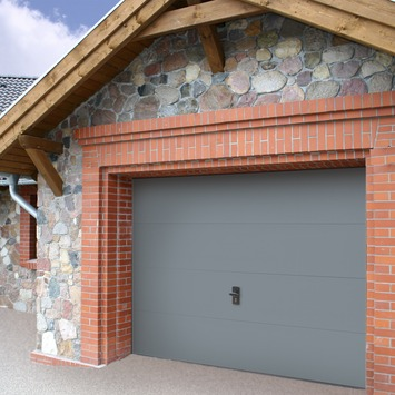 Porte de garage Wayne Dalton 250x212,5 cm gris (sans encadrement 318564)