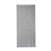 Rideau moustiquaire de porte Cord noir/blanc 231.5x100 cm
