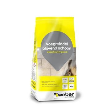 Weber voegmiddel waterdicht grijs 4 kg