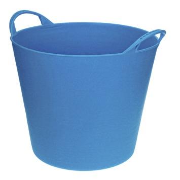 Seau souple 40 L bleu clair