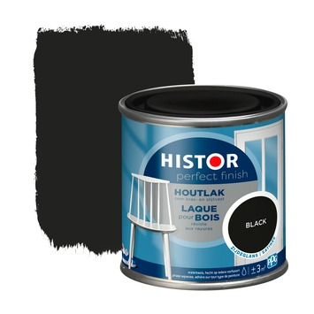 Histor Perfect finish houtlak zijdeglans 250 ml black