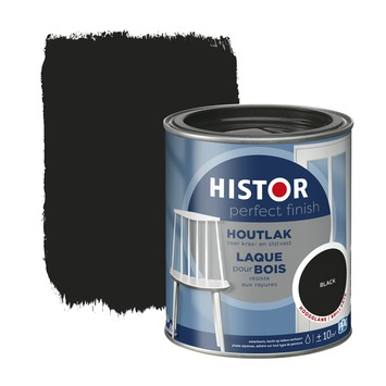 Histor Perfect finish houtlak hoogglans 750 ml black