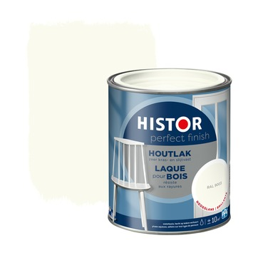 Histor Perfect finish houtlak hoogglans 750 ml RAL 9003