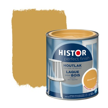 Histor Perfect finish houtlak hoogglans 750 ml brass mesh