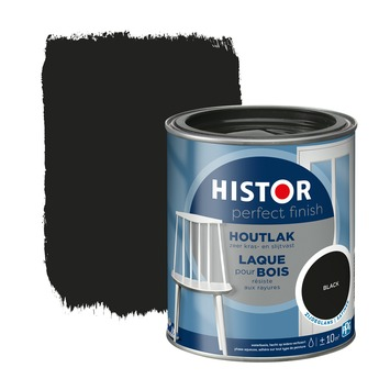 Histor Perfect finish houtlak zijdeglans 750 ml black