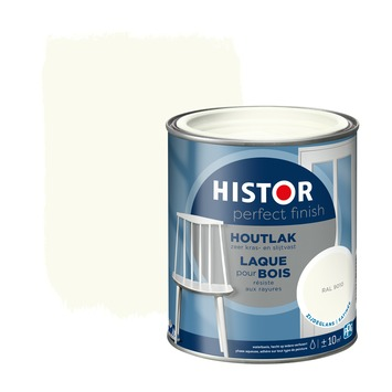 Histor Perfect finish houtlak zijdeglans 750 ml RAL 9010