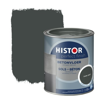 Histor Perfect finish betonvloer zijdeglans 750 ml dark grey
