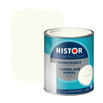 Histor Perfect finish wandtegels zijdeglans 750 ml RAL 9010
