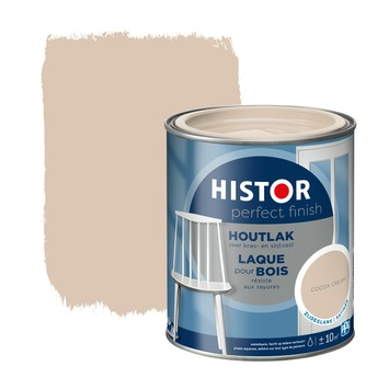 Histor Perfect finish houtlak zijdeglans 750 ml cocoa cream