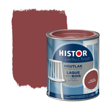 Histor Perfect finish houtlak zijdeglans 750 ml crazed cranber