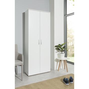 Armoire multifonction blanc 187x70x34 cm