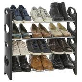 Armoire à chaussures Casibel noir 12 paires