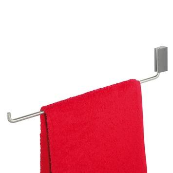 Porte-serviettes 1 bras Cliqit Tiger inox/gris