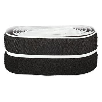 Fix-O-Moll Klittenband zelfklevend 60 cm x 20 mm zwart