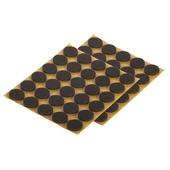 Patin de feutre Suki auto-adhésif rond 17 mm brun 60 pièces