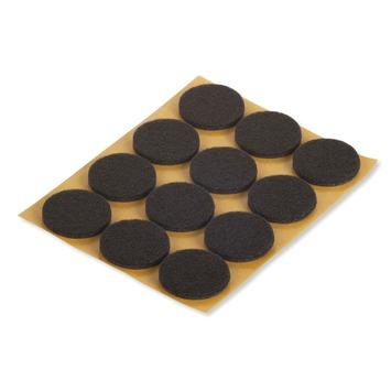 Suki Meubelglijders vilt zelfklevend rond 22 mm bruin 48 stuks