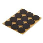 Patin de feutre Suki auto-adhésif rond 22 mm brun 48 pièces