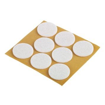 Patin de feutre Suki auto-adhésif rond 28 mm blanc 24 pièces