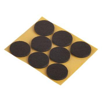 Suki Meubelglijders vilt zelfklevend rond 28 mm bruin 24 stuks