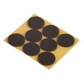 Patin de feutre Suki auto-adhésif rond 28 mm brun 24 pièces