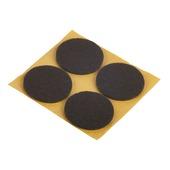 Patin de feutre Suki auto-adhésif rond 35 mm brun 12 pièces