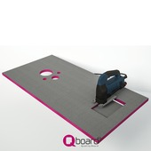 Kit de montage bâtisupport pour WC Qboard quick