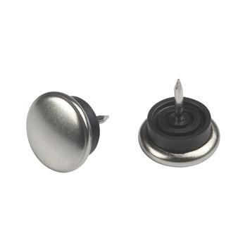 Suki Meubelglijders nikkel/rubber m/nagel 25 mm 8 stuks