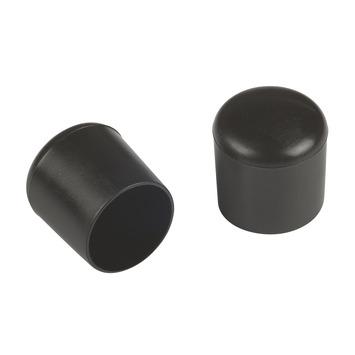 Suki Meubeldoppen opsteek rond 18 mm zwart 4 stuks