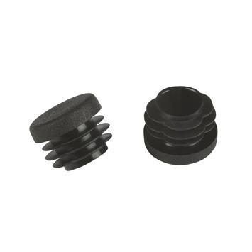 Suki Meubeldoppen insteek rond 25 mm zwart 4 stuks