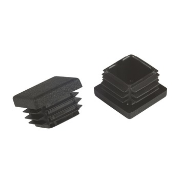 Suki Meubeldoppen insteek vierkant 25x25 mm zwart 4 stuks