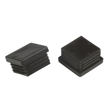 Suki Meubeldoppen insteek vierkant 35x35 mm zwart 4 stuks