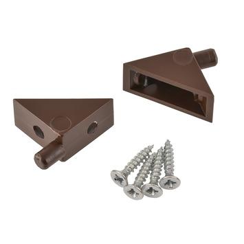 Suki Kastplankdragers schroefbaar 5 mm bruin 8 stuks