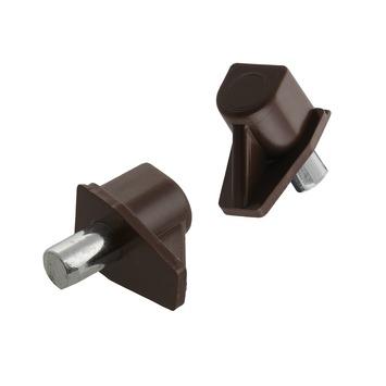 Suki Kastplankdragers kunststof/metalen stift 5 mm bruin 12 stuks