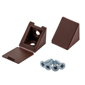 Suki Paneel-hoekverbinders kunststof 25 mm bruin