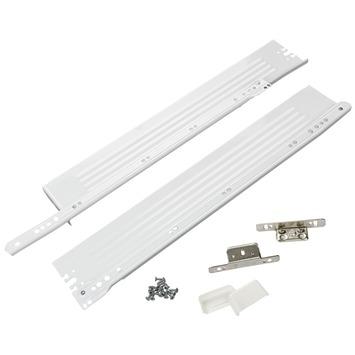 Kit de montage coulisses Suki 500 mm blanc