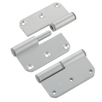 Paumelles coins arrondis Suki aluminium droite 80x80 mm