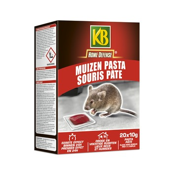 KB Home Defense muizen pasta fast 20x 10 g